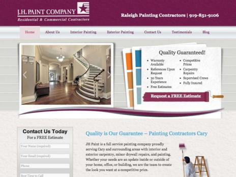 Raleigh Durham Websites Gallery » Blog Archive » JH Paint Company